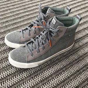 Grey high-top keds sneakers